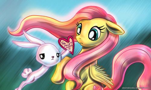 Happy Valentine siku Fluttershy