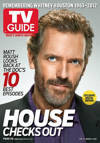 Hugh Laurie- (House) HOUSE-TV GUIDE COVER FEBRUARY 27-MARCH 4TH,2012