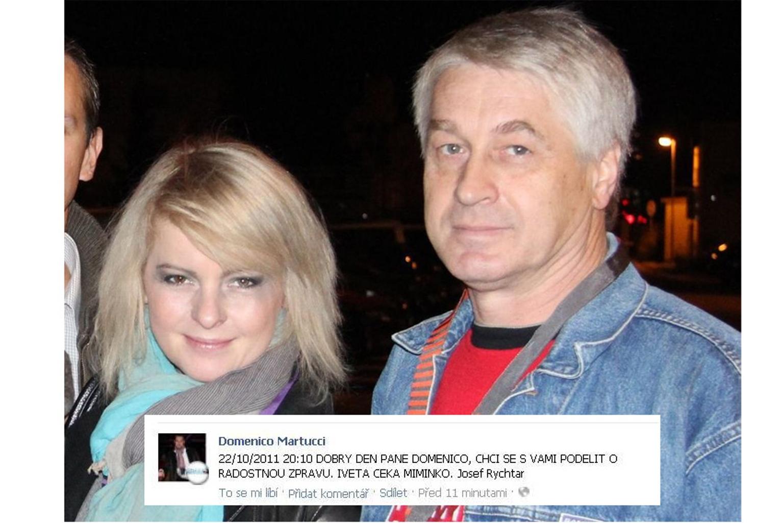 Iveta Bartosova was pregnant with Josef Rychtar