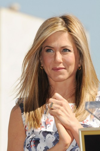 Jennifer Aniston Getting Her Star On The Hollywood Walk Of Fame [22 February 2012]
