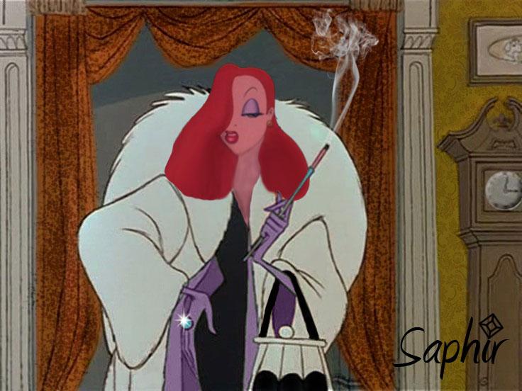 Jessica Rabbit with Cruella body
