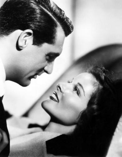 Katharine Hepburn and Cary Grant