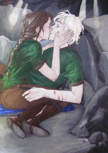 Katniss Kissing Peeta in the cave