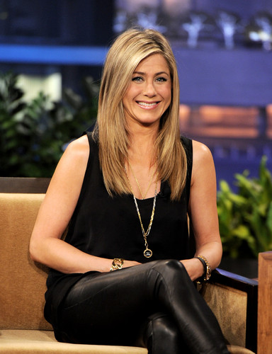 Leather Pants On Leno [24 February 2012]