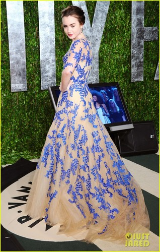 Lily Collins - Vanity Fair Oscar Party