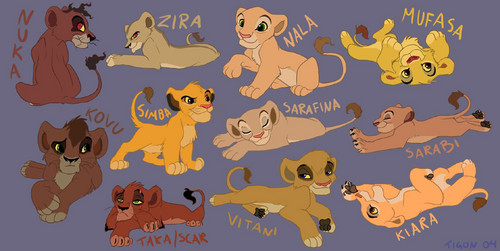 Lion king cubs