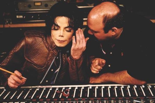 Michael in the record studio.