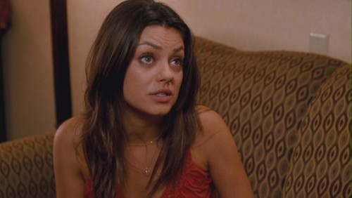 Mila Kunis wallpaper probably with a portrait entitled Mila Kunis as Cindy in 'Extract'