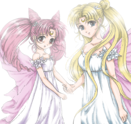 Sailor Mini moon (Rini) দেওয়ালপত্র titled Mother and daughter