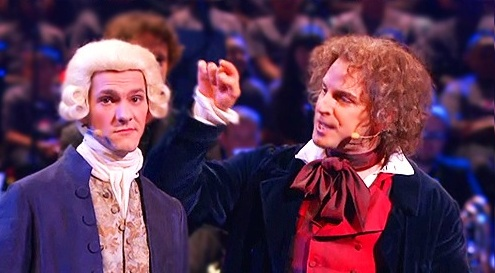 Horrible Histories Обои titled Mozart and Beethoven