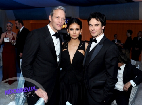 Nina and Ian Oscar's Viewing Party - ian-somerhalder-and-nina-dobrev photo