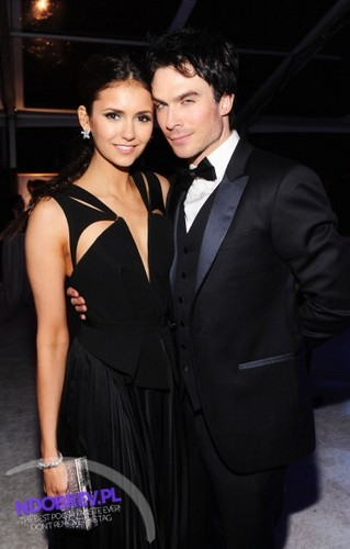 Nina and Ian at the Elton John's Oscars viewing party!