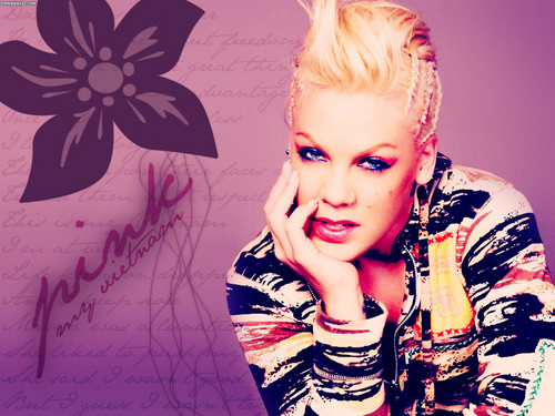 Pink wallpaper titled P!nk Wallpaper