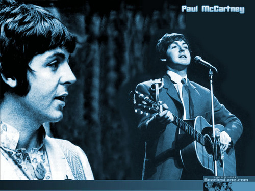 Paul McCartney wolpeyper with a konsiyerto and a guitarist called Paul