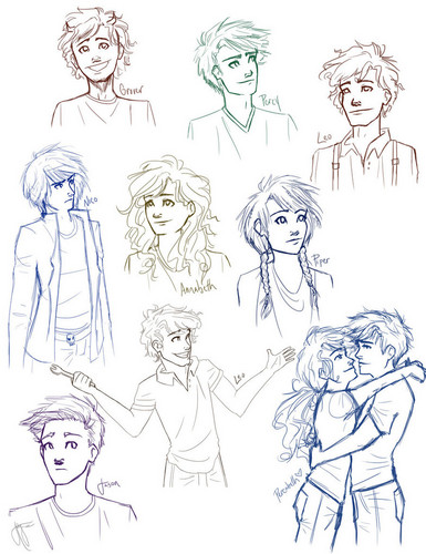 The Heroes of Olympus achtergrond probably containing anime called Percy Jackson Cast