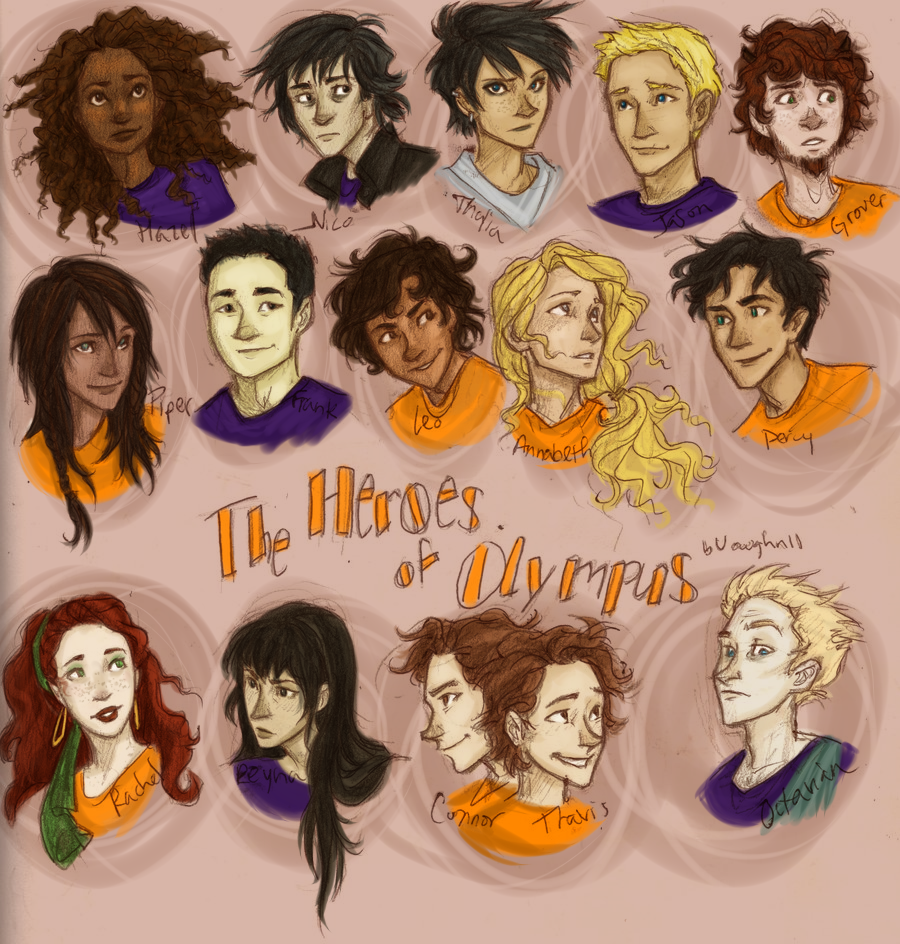 Percy jackson Characters Colored