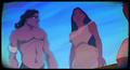 Pocahontas see's Tarzan's refection