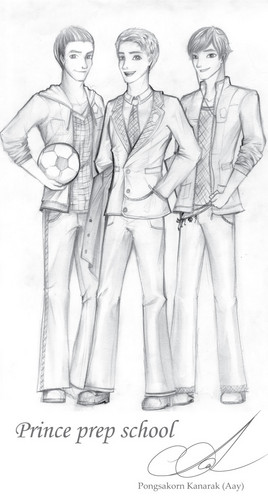 Prince prep school. (male version) Fanart.