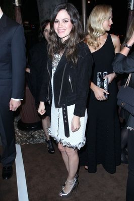 Rachel at the Chanel And Charles Finch Pre-Oscar Dinner at Madeo Restaurant, LA. [25/02/12]