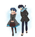 Ranma and AKane - ranma-1-2-a-boy-who-changes-in-to-a-girl photo