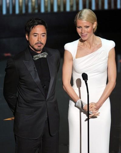 Robert Downey Jr. & Gwyneth Paltrow Presenting @ the 2012 Academy Awards