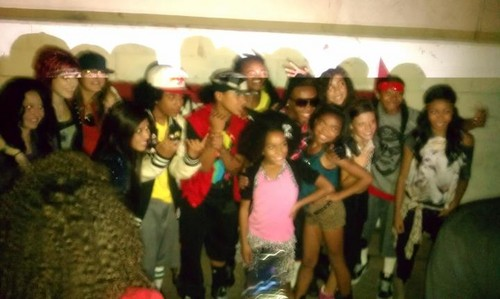 Roc with MB - Backstage of Girlz Talkin Bout :)