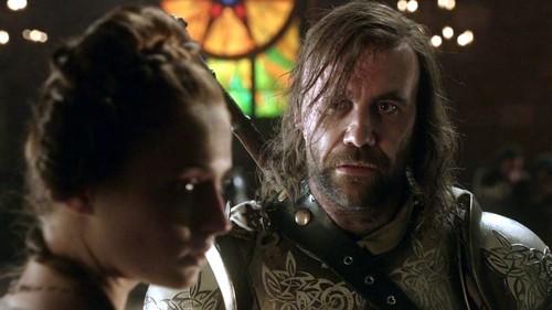 Sandor Clegane and Sansa Stark