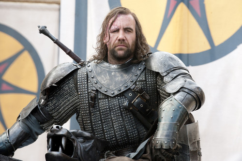 House Lannister wallpaper with a breastplate, an armor plate, and a fauld called Sandor Clegane