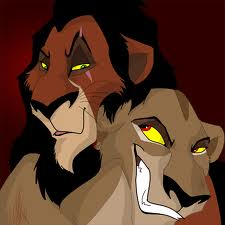 The Lion King kertas dinding with Anime titled Scar & Zira