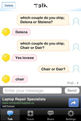SimSimi Ships Delena.<3
