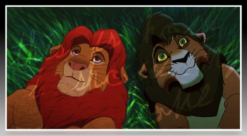 The Lion King kertas dinding entitled Simba&Kovu