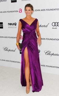 Stana @ Elton John AIDS Foundation