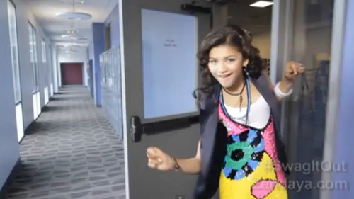 Zendaya Coleman پیپر وال probably with a sundress کے, سوندریسس and a سب, سب سے اوپر titled Swag It Out [music video]