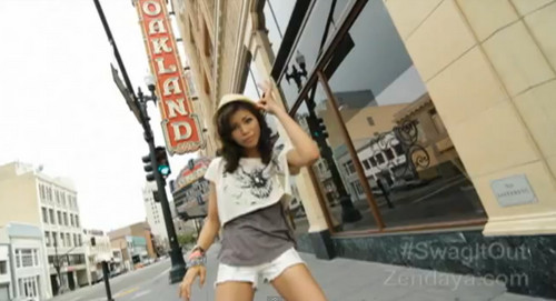 Zendaya Coleman wallpaper possibly with a tennis racket, a tennis player, and a tennis pro entitled Swag It Out [music video]