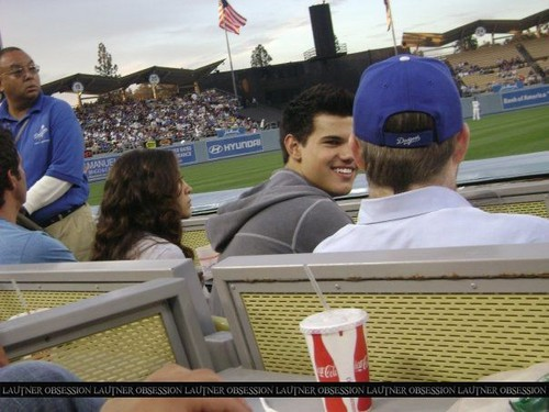 Taylor on baseball game