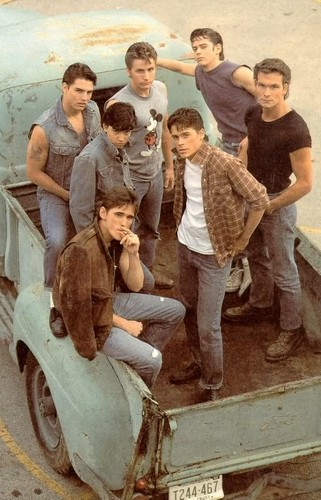 The Outsiders wallpaper possibly containing a chuck wagon, a covered wagon, and a lumbermill called The Outsiders