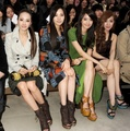 Tiffany Yoona & SeoHyun @ Burberry Prorsum Autumn/Winter 2012