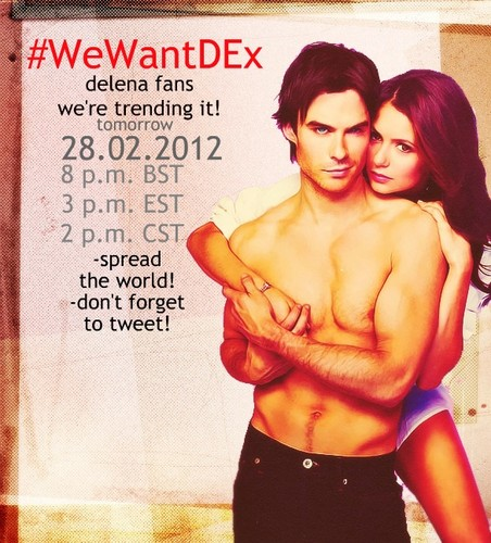 Trending, tomorrow night! Don't miss it! - damon-and-elena Photo