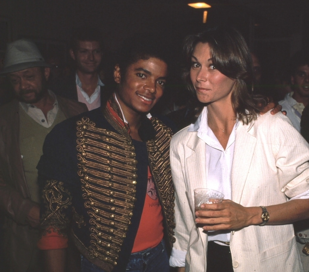 "Two angels: Michael and ""Charlie's angel"" Kate Jackson."