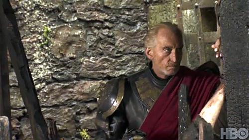House Lannister wallpaper probably containing a green beret, a surcoat, and a street entitled Tywin Lannister