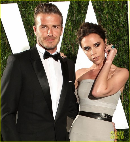Victoria & David Beckham - Vanity Fair Oscar Party