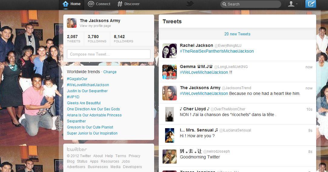 We 사랑 Michael Jackson no.2 worldwide :D