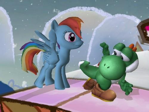 Yoshi and arc en ciel Dash