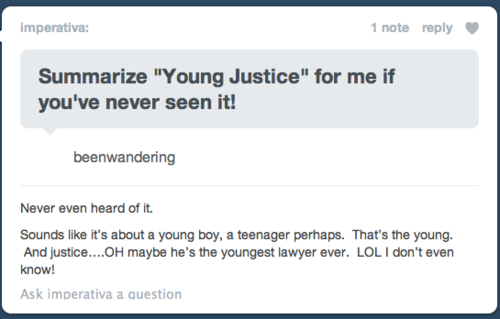 Fan art that was posted a week ago on tumblr - Young Justice Fan Art