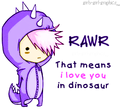 dinosaur love:) - love-quotes photo