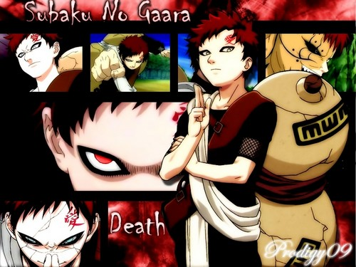 gaara and the sand