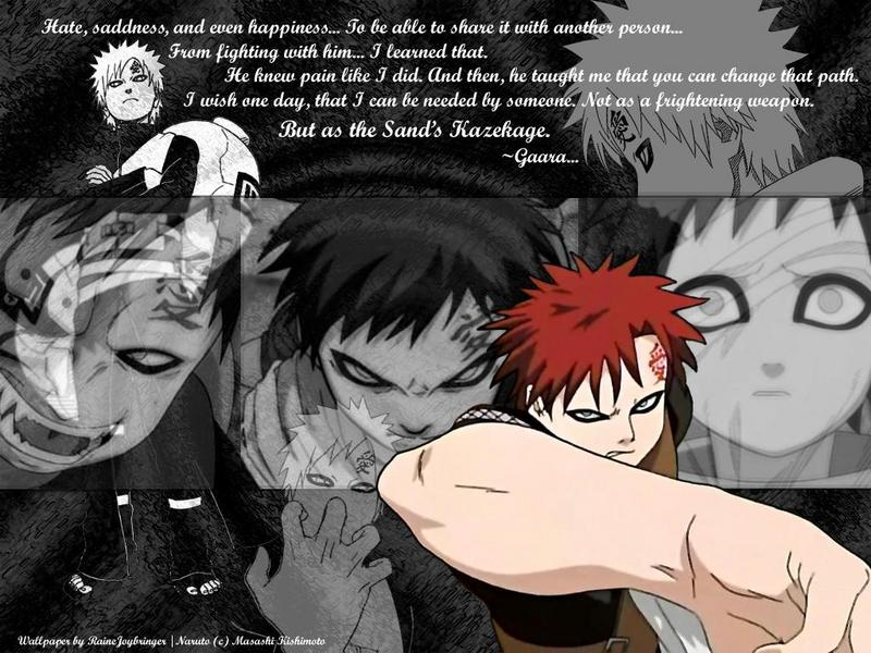 GAARA And The Sand Images Gaara And The Sand HD Wallpaper And Mesmerizing Gaara Quotes Loneliness