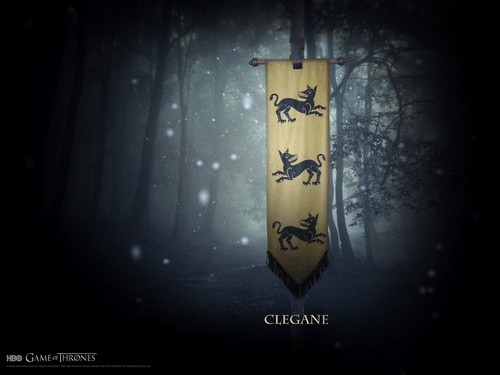 house Clegane mantel of arms