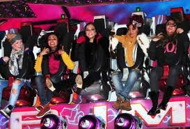 little mix and T at fairground having so much fun
