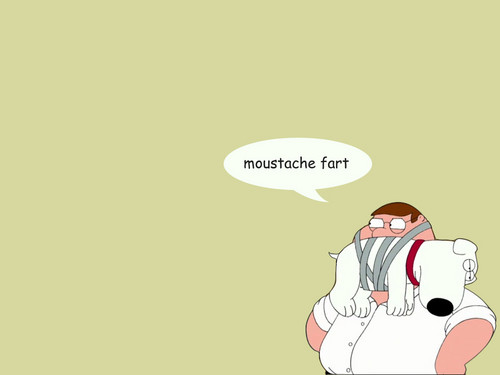 Peter Griffin wolpeyper titled moustache fart